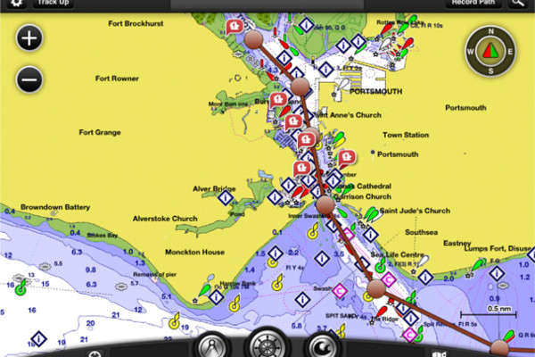 Bluechart passage plan