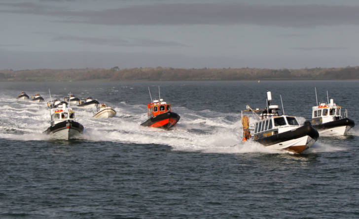 Commercial Rib fleet on the Solent