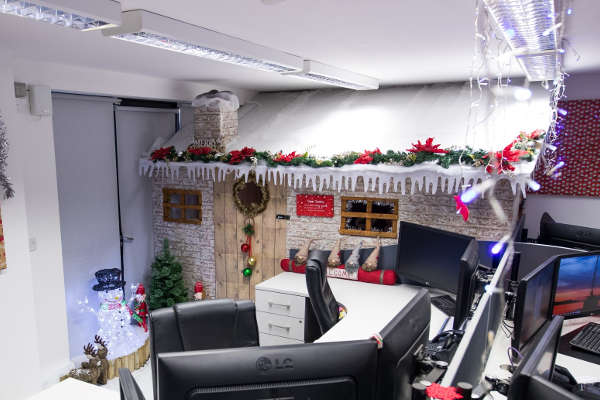 Christmas Grotto in office