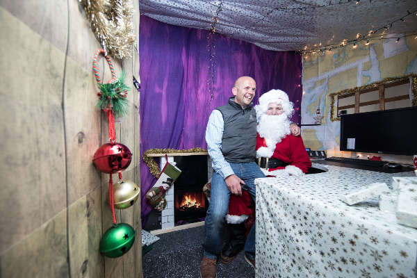 Christmas Grotto in the office with Santa