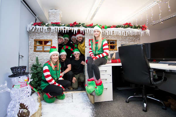 Christmas Grotto in the office
