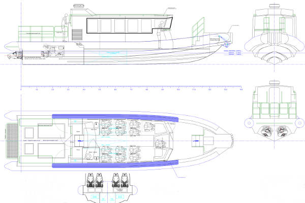 Shallow draft Crew Transfer Vessel plans