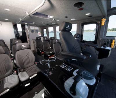 Crew transfer vessel interior