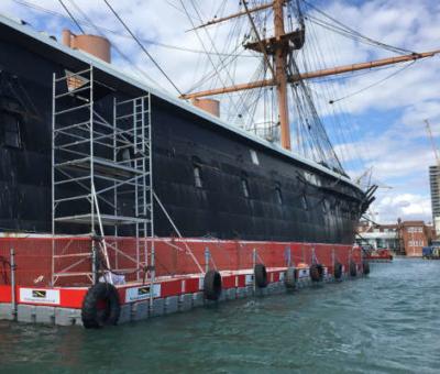 pontoon around ship