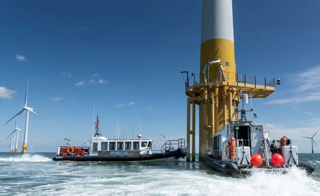 Windfarm crew transfer boats